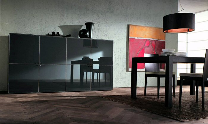 Mood rovere cristallo credenza
